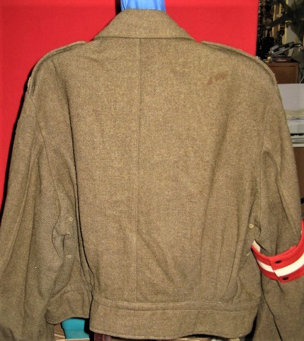 WWII era Canadian Army General's Battledress Tunic - Shoulder to