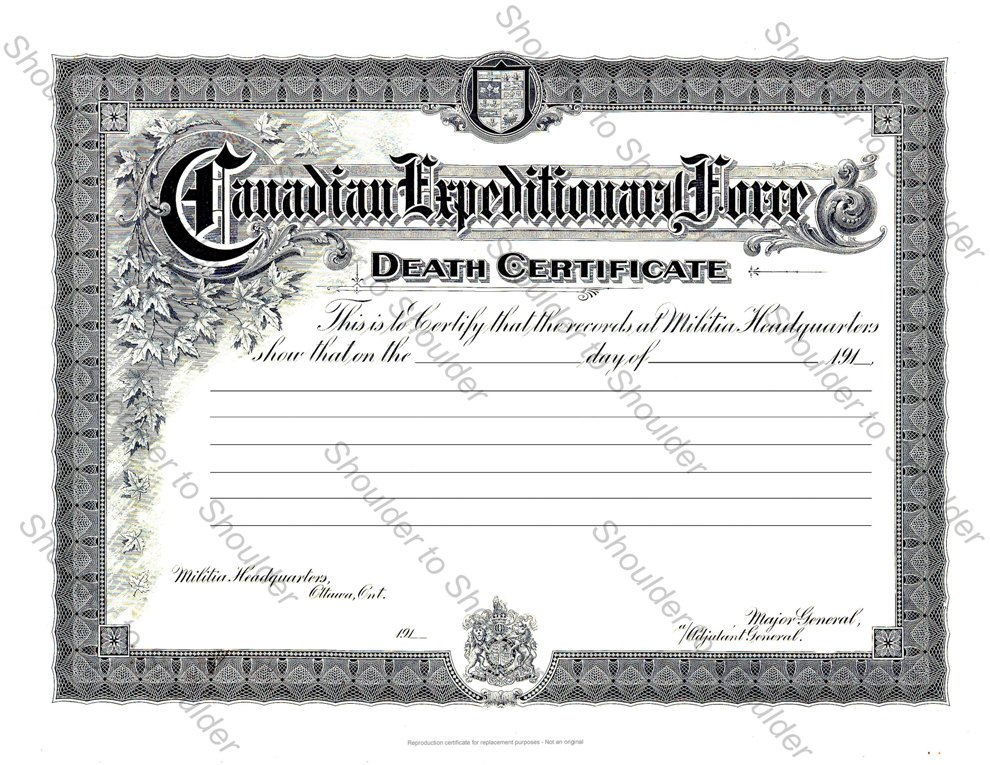 Ww1 death certificate 1914 18 shoulder to shoulder for German death certificate template